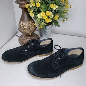 UGG Shoes - Ugg Black Suede Oxford Chaucer Lace Up Shoe Sz 14